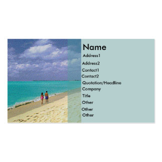 Beach Rack Card Pack Of Standard Business Cards