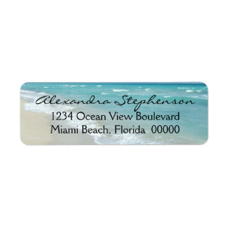 Beach Relaxation Ocean View Spa White Sand Return Address Label