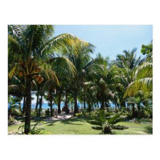 Beach resort postcard