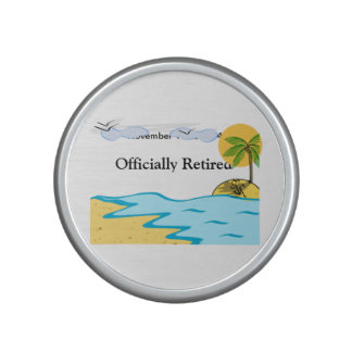 Beach Retirement Add Name And Date Bluetooth Speaker