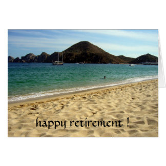 beach retirement cards