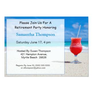 Beach Retirement Invitation