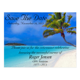 Beach Retirement Save the Date Postcard