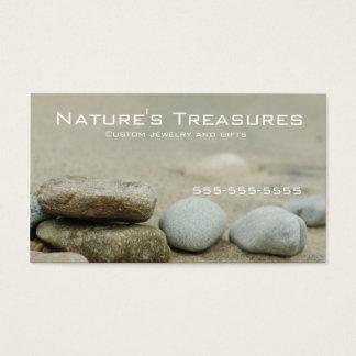Beach Rocks Lake Michigan Business Card