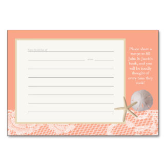 Beach Romance Peach Recipe Card