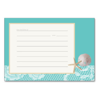 Beach Romance Recipe Card aqua