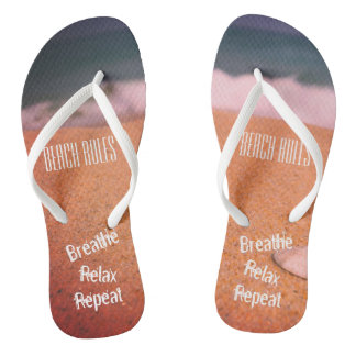 Beach Rules, Breathe, Relax, Repeat - Thongs