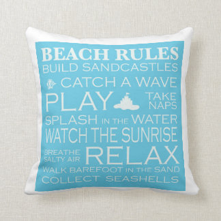 Beach Rules Pillow