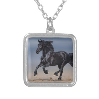 Beach running silver plated necklace