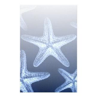 beach rustic shabby chic nautical starfish personalized stationery