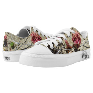 BEACH SAND AND FLOWER SNEAKER LOW TOPS SHOES