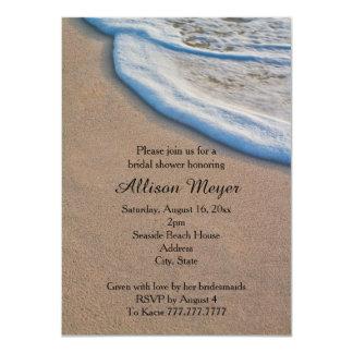 Beach Sand and Sea Foam Bridal Shower 11 Cm X 16 Cm Invitation Card