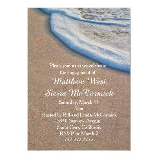 Beach Sand and Sea Foam Wedding Engagement Party 11 Cm X 16 Cm Invitation Card