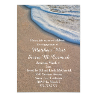 Beach Sand and Sea Foam Wedding Engagement Party Card