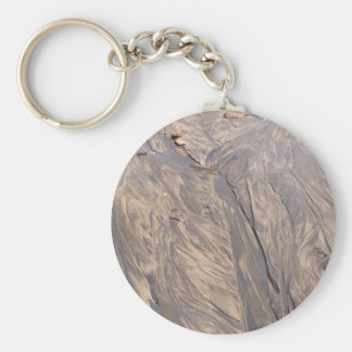Beach Sand Basic Round Button Key Ring