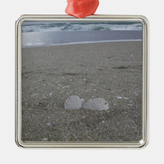 Beach Sand Dollars Metal Ornament