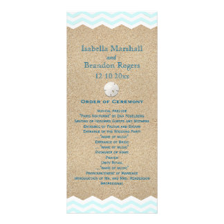 Beach Sand Dollars Wedding Program Rack Card Template
