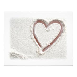 Beach Sand Heart Flyer Design