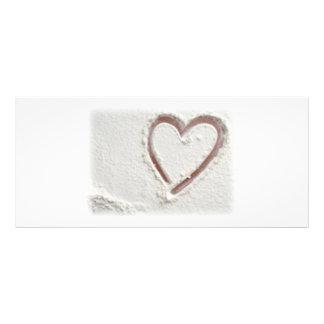 Beach Sand Heart Rack Card Template