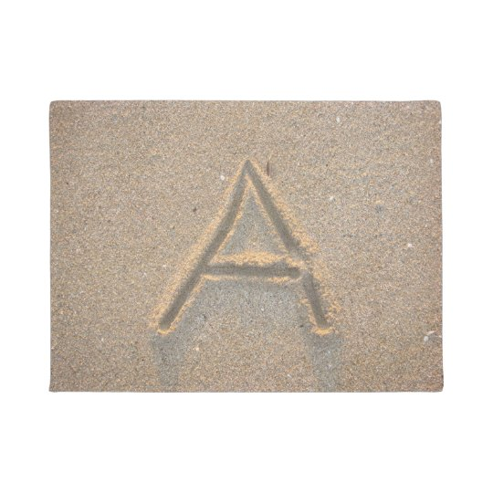 Beach Sand Monogram A Doormat