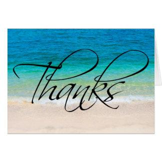 Beach Sand Ocean Thanks Thank You Note Card