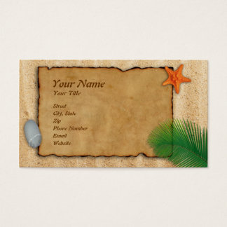 Beach Sand Parchment Business Card