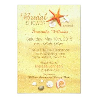 Beach Sand Seashell Beach Bridal Shower Card