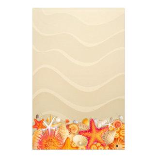 Beach Sand & Starfish Stationery Paper
