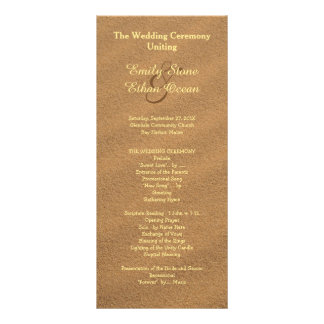 Beach Sand Wedding Tall Program Rack Card