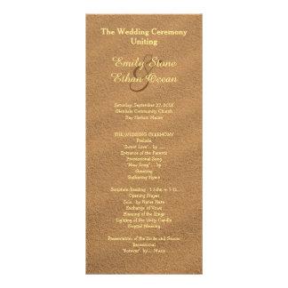 Beach Sand Wedding Tall Program Rack Card Design