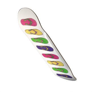 Beach Sandals Pattern Skateboard Deck