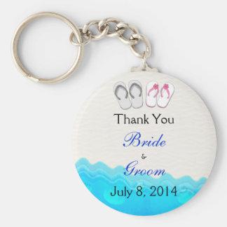 Beach Sandals Wedding Thank You Keychains