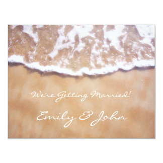 Beach Save the Date 11 Cm X 14 Cm Invitation Card