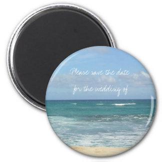 Beach Save the Date Fridge Magnet