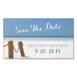 Beach Save The Date Magnets Magnetic Business Cards