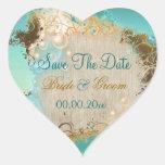 "Beach ""save the date"" wedding aqua white"