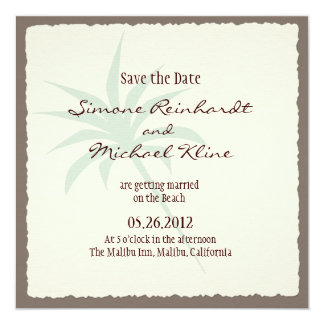 Beach Save the Date with Palm Trees Card