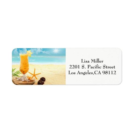 Beach Scene Address Labels