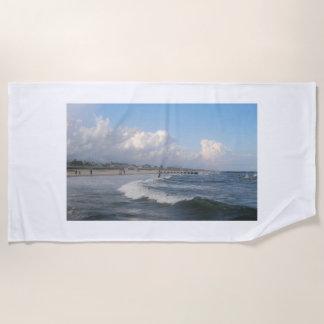 Beach Scene Beach Towel
