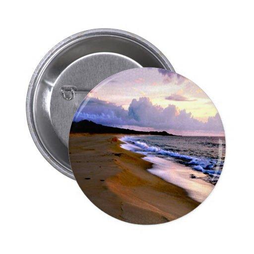 Beach Scene Button...Wedding Favor