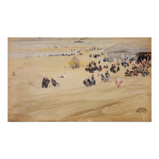 Beach Scene by James Abbott McNeill Whistler Print