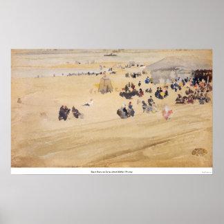 Beach Scene by James Abbott McNeill Whistler Poster