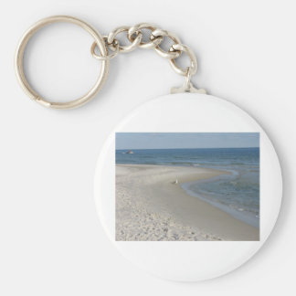 Beach Scene Key Ring