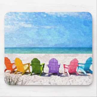 Beach Scene Mouse Pad