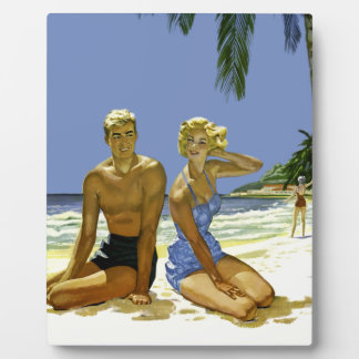 Beach scene plaque