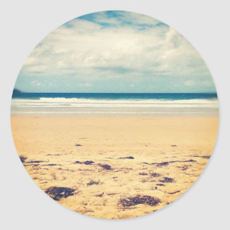 Beach Scene Round Sticker