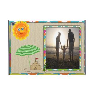 Beach Scene, Sun, Sand, Sandcastle Photo Template Cases For iPad Mini
