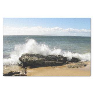 "Beach scene water splashing maui tissue paper 10"" x 15"" tissue paper"