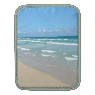 Beach Scene - White Sand and Beautiful Ocean iPad Sleeves