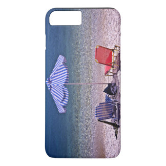 Beach scene with resting chairs iPhone 7 plus case